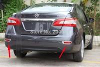 2 pcs Chrome rear bumper fog Molding trim cover fog lamp cover For SENTRA Sylphy Pulsar 2012 2013 2014