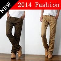 2014 NEW Winter Fashion Men Cotton Sports Pants Casual Khaki Black outdoors sport Sweatpants men's clothing Korean Style 1108K
