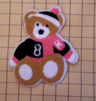 Cute baby bear cartoon patch