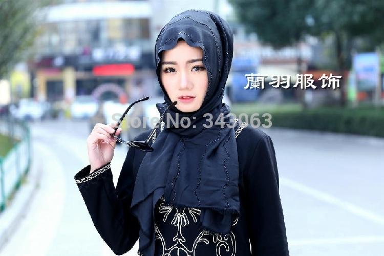 4colours Fashion High Grade Muslim Hijab Turban Kerchief Headwear hood coif babushka Hair accessories headband tropical bandana(China (Mainland))