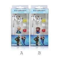 2015 New&Hot! Cartoon Frozen Earphone Headset Anna Elsa Ola Headset 3.5mm In-Ear headphones Headphone Original Package