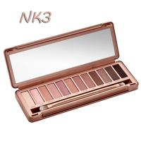 Wholesale 2014 NEW Nake 3 Makeup Eyeshadow Palette Gift. 12 collors  1 Set Brush Make UP Set