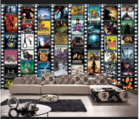 Free shipping custom 3D large murals bedroom living room bar KTV background wall paper and American Style Movie Poster