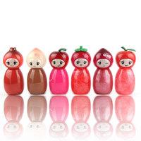 6 Colors 24Pcs/Lot Cute Design Moist Lip gloss Lip Color Brand Makeup Maquiagem