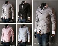 Hot Selling Men's Shirts Classic Male Leisure Shirts Casual Slim Fit Stylish Dress Shirts 5 Colors M~XXL