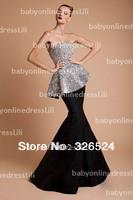 New arrivals prom dresses mermaid sleeveless long sequin dress formal dresses vestidos de fiesta 2014 BO2758