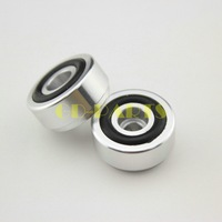 4PCS 20*10mm Black Solid Aluminum Speaker Chassis Amplifier Isolation Feet Pads