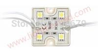 20pcs 5050 4 LED Modules Yellow Waterproof IP65 DC12V smd led 5050 module Free Shipping