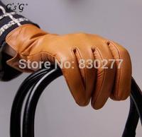 GSG   Ms.   Short paragraph separate finger riding gloves sheepskin    13900
