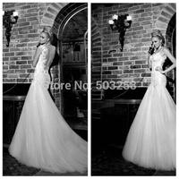 DWD29 Galia Lahav Mermaid Tulle 2015 Appliqued New Fashion Wedding Dress
