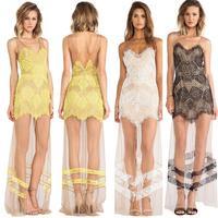 New Women Sexy Lace Maxi  Dress Bandage Summer Sleeveless  Beach LongDress 4343