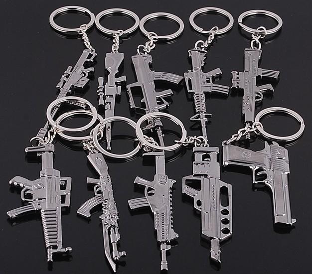1 PCS Classic Counter Strike Alloy Machine Gun Key Chain Personality Souvenirs Metal Key Chain(China (Mainland))