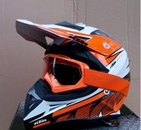Free shipping KTM style Motorcycle off road Helmet motocross helmet (helmet + goggles)
