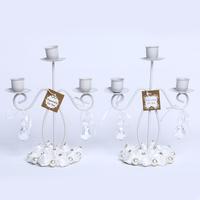 GAGA ! 3-light iron 23*20 (cm) white stain rose candlestick decoration for bride shower  10 pcs/lot , XA100-7