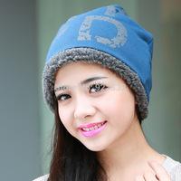 NewWomen 100% Wool Fur Beanie Skullcap Cute Warm Winter Unisex Hat#A119
