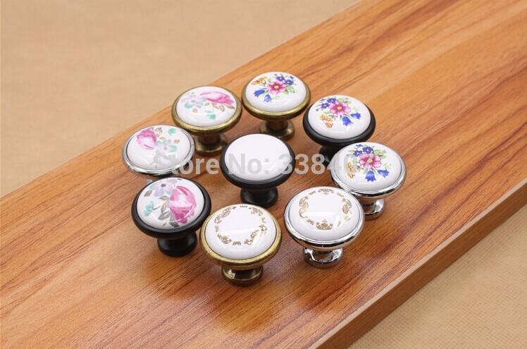 Compra tiradores de cer mica online al por mayor de china - Tiradores de porcelana ...