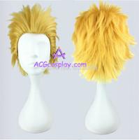 Fate zero Gilgamesh cosplay wig golden color blonde color short wig