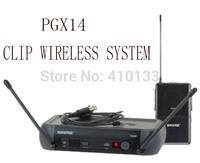 Free shipping  good sound PGX14/WL185 clip bodypack  karaoke stage Wireless Microphones system