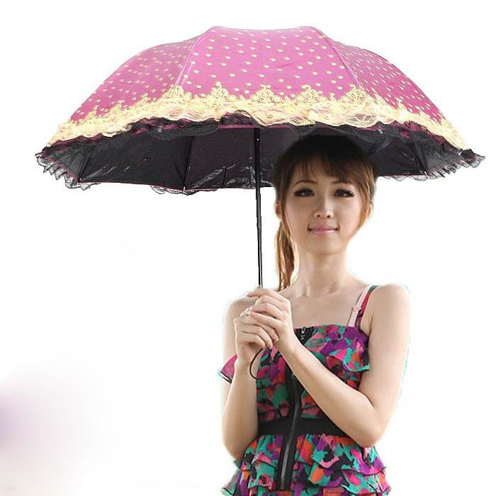 High Quality transparent Dual lace decorative sunny and rainy colorful umbrella women colorful parasol black pagoda umbrella(China (Mainland))