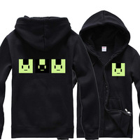 DRAMAtical Murder DMMd Noiz Cosplay Costume Hoodie Zipper-up Coat Jacket Thick Warm Hooded Tops for men and women