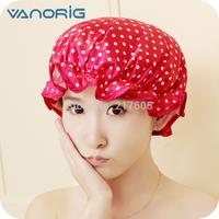 High quality shower cap Vanorig cap double layer thickening waterproof dry hair hat adult Women shower cap