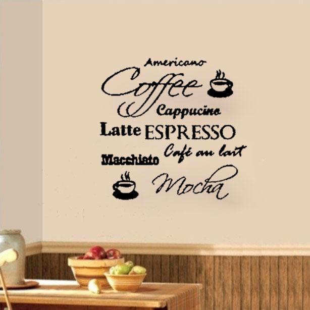 Muurstickers Keuken Koffie : stickers vinyl stickers home decor keuken woonkamer kunst muurstickers
