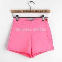 summer pink Women Vintage High Waist Shorts Jeans Short Jeans  jeans women's shorts shorts