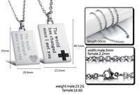 2015 New simple necklace couples Necklace men's women's necklace chain necklace & pendants