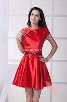 Red simple Mini prom dress.