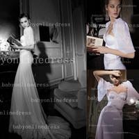 Elegant sweetheart neckline with jacket sheath corset inbal dror lace wedding dresses bridal dresses 2014 BO2501