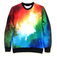 Galaxy Fashion Printed Sweater Street Fashion Unisex Lovers Sweatshirts Hoodie 4 Sizes Available