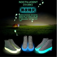 Noctilucent Flat Lacing Solid color Neon Fairy Shoes, Womens High-Top Shoes, Glow in the Dark Fashion Sneakers