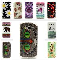 Beautiful Owl Elephant, etc. Pattern TPU Back Cover Case Skin for Samsung Galaxy Core II G355 G355H G3559 G3556D 15 Styles