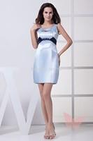 Fashion Blue short paragraph prom dress