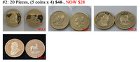 Clearance sale 20pcs/lot (5 coins*4) Was $48 Now $28 Mix Year 1978,1984,2013,2014 no copy 1OZ Gold Plated  Krugerrand Gold coins