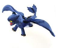 Toy blue dragon Night fury design Cotton fabrics flying dragon On selling New arrive