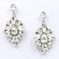 New 2015 women statement earring fashion full crystal stud Earrings for women jewelry factory price wholesale unique earrings