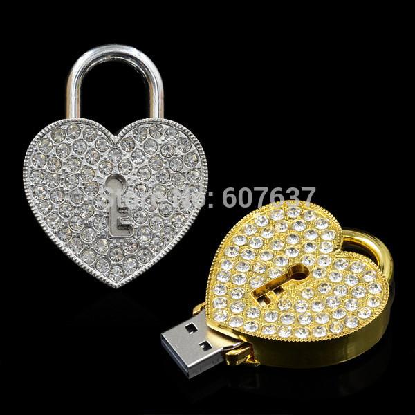 100% real capacity jewelry heart usb flash drives 8GB 16GB Memory USB Flash 2.0 Memory Drive Stick 2GB/4gb/64GB/32GB pendrive(China (Mainland))