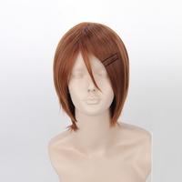 [wamami] Adult Flax Short Straight Wig Cosplay Kuroko's Basketball Aida Riko Woman Wig