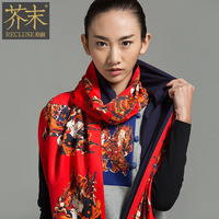 Advanced print chinese style long scarf sistance keeper