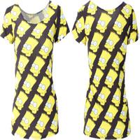 EAST KNITTING Summer 2015 New Fashion Simpson Print Women T-shirt Basic Tops Cute Shirt Women Plus Size Free Shipping