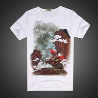 High Quality Hot 2015 Summer Basic Tee Men Women Personality Streetwear Lycra Fabric T Shirt Casual Hip Hop Short-sleeve T-Shirt