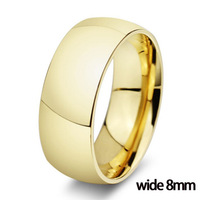 2015 Classic 18K gold ring vintage wedding rings for men women 316L stainless steel jewelry wholesale