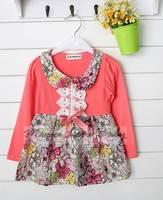 New Hot sales Autumn Kids Dress Girl Long-sleeve Casual Clothes Princess Dress S, M, L, XL SV009378