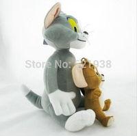 Free shipping Wholesale 5 sets ( 1set = 2 pcs)  10 pcs Tom and Jerry Soft Plush Stuffed Doll Toy 30cm new
