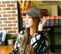 2015 Spring New Arrival Cabbie Newsboy Flat Peaked Hat Women Vintage Beret Coffee Cap