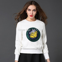 New 2015 woman clothes fashion casual cartoon sweaters and pullovers womens pullover high elastic sweater Drop shipping