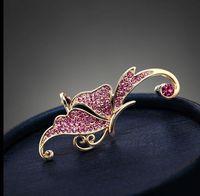 South Korea fashion butterfly earrings screw clip earrings(Only 1 ears hang)+free shipping