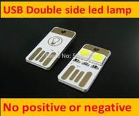 Double interpolation USB lamp computer keyboard lamp super mini USB lights mobile power USB lamp