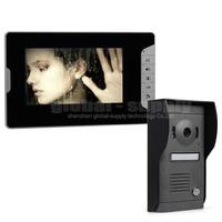 Quality Color Video Door Phone Doorbell Intercom System Kit 7 inch Monitor Hand Free Waterproof IR Night Vision Camera SY813MF11